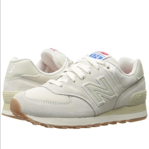 Brand new! New Balance cream sneakers size 5